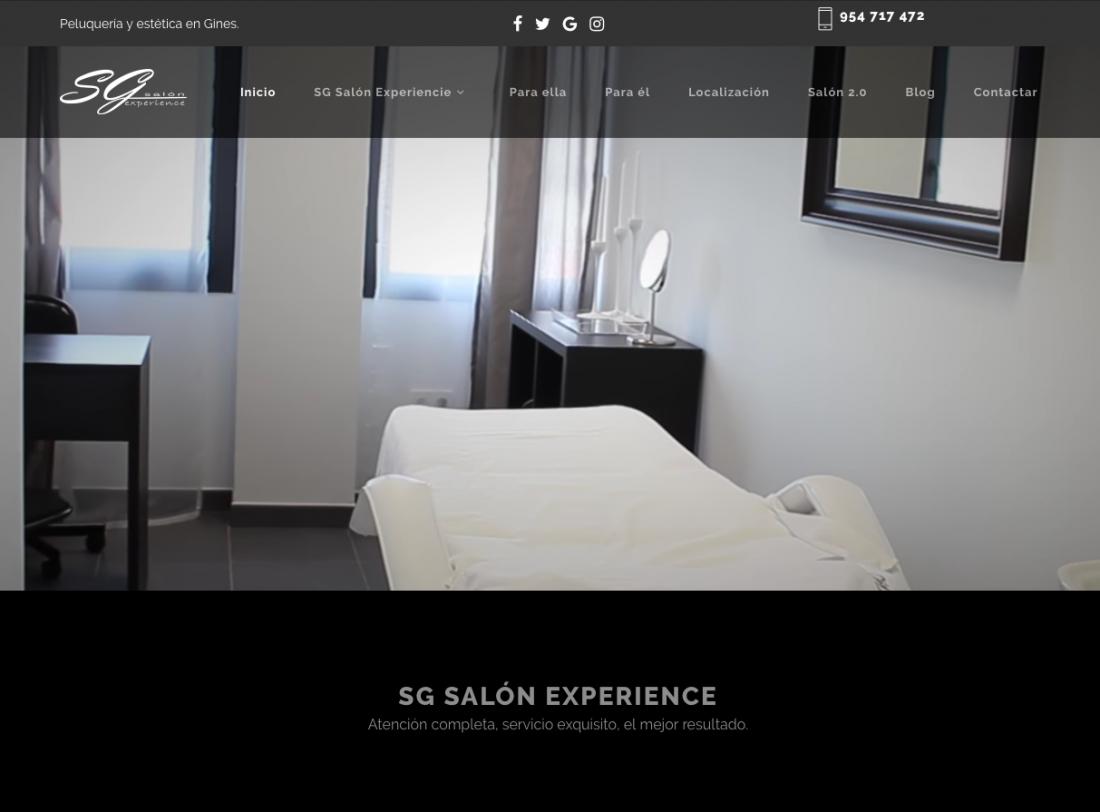 e93c34085 SG Salón Experience estrena nueva web! - Peluquería en Gines ...